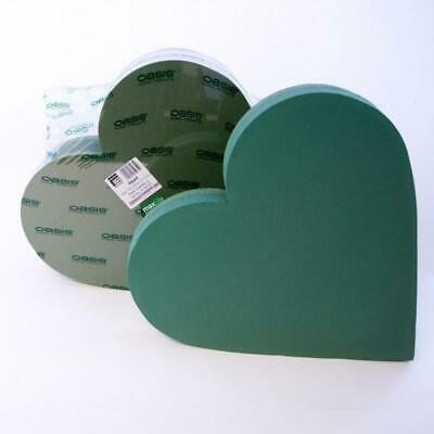 £23.90 • Buy Oasis Wet Foam Backed Solid Heart 21inch Florist Funeral Frame Pack Of 1 Or 2