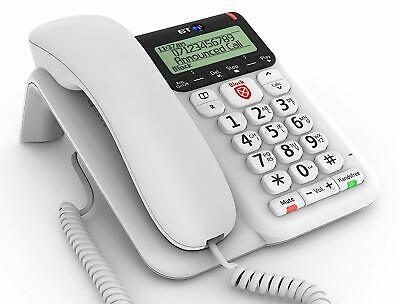 BT Decor 2600 Large Buttons Advanced Call Blocker Corded Phone Telephone Answer • 26.99£