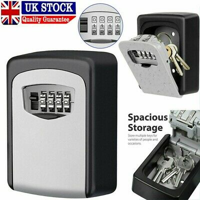 Key Safe Outdoor High Security Wall Mounted Box Secure Lock Combination Outside • 9.99£