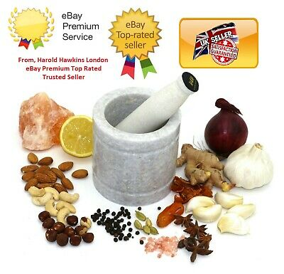 £19.95 • Buy Large Pestle And Mortar Set Natural Spice & Herb Crusher Grinder Durable Stone