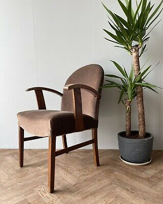 £180 • Buy Vintage Mid Century Heals Upholstered Armchair Lounge Chair Seat Delivery