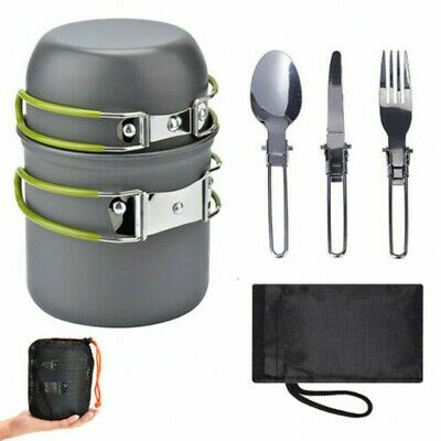 £13.79 • Buy Portable Cook Set Camping Cookware Kit Outdoor Picnic Hiking Cooking Equipment