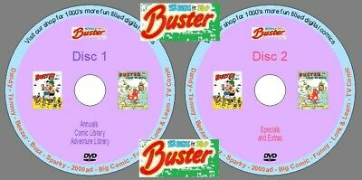 £5.79 • Buy Buster Annuals, Specials, Comic Library & More On 2 DVDs. UK Classic Comics.