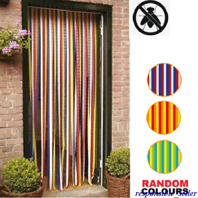 £8.74 • Buy Blinds For Doors Doorway Plastic Strips For Insect Bugs Fly Control 90 X 200 Cm