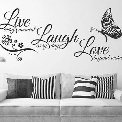 £3.89 • Buy Live Laugh Love Family Home Quote Wall Stickers Art Room Removable Decals Hot E