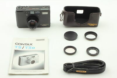 $ CDN3571.61 • Buy [Top MINT] Contax T3 Black 70th Model Case Strap Filter Hood Cap From JAPAN