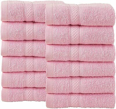 £19.99 • Buy 12 Piece Bale Face Wash Towel Gift Set 500 GSM Double Looped 100% Cotton Soft