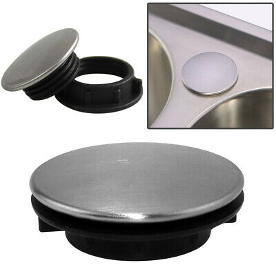 Kitchen Sink Tap Hole Blanking Plug Cover Plate Disk Polished Or Brushed Finish • 3.98£