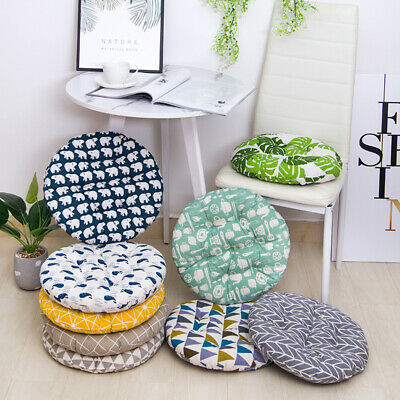 Round Cotton Cushion Home Party Dining Chair Seat Thick Mat Outdoor Garden Soft • 4.69£