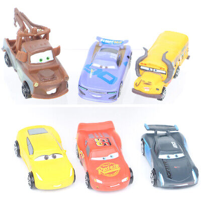 Cars Lightning McQueen Mater Jackson Car Action Figure Kids Toy Cake Topper 6Pcs • 9.78£