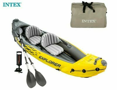 AU432.68 • Buy Intex Explorer K2 2 Person Inflatable Kayak Canoe Paddle Boat With Pump And Oars