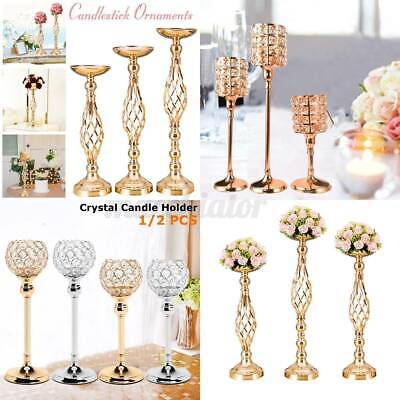 £14.08 • Buy Crystal Candle Holder Candlestick Decor Centerpiece Candelabra Party  C