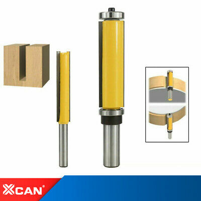 """£7.37 • Buy Straight Router Bit 1/4 1/2""""Shank Flush Trimming Bit Template Milling Cutter"""