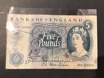 Old Bank Of England £5 Five Pound Note Bank Of England Fforde • 16.99£