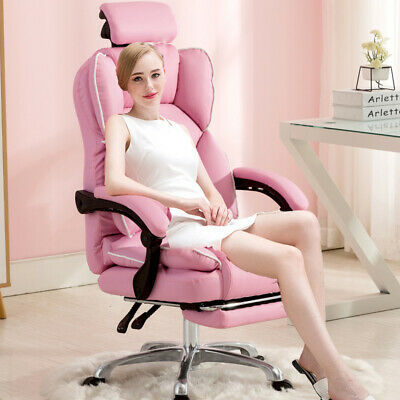 AU148.26 • Buy Massage Luxury Footrest Computer Chair Office Swivel Recliner Leather Executive