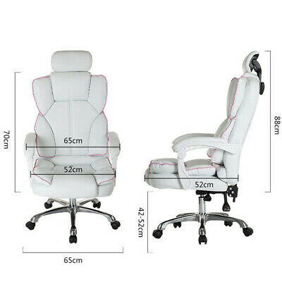 AU147.16 • Buy Luxury Footrest Computer Chair Office Swivel Recliner Leather Executive