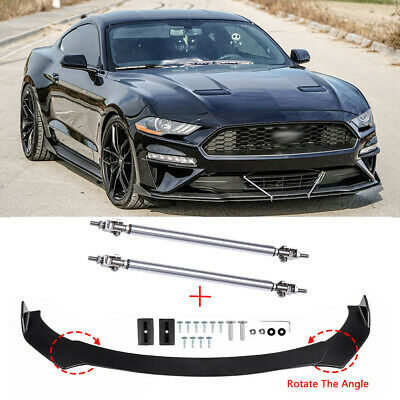 $89.65 • Buy For Ford Mustang GT RS ST Focus Front Bumper Lip Splitter Spoiler + Strut Rods