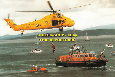 £5.75 • Buy L108662 Air Sea Rescue Helicopter. 22 Squadron. Raf Valley With Moelfre Lifeboat