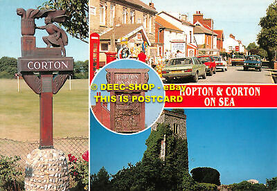 L110520 Hopton And Corton On Sea. Golden Shield. Multi View • 5.75£