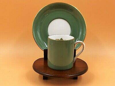 £13.50 • Buy Vintage Crown Staffordshire China Sage Green Demitasse Cup & Saucer Duo.