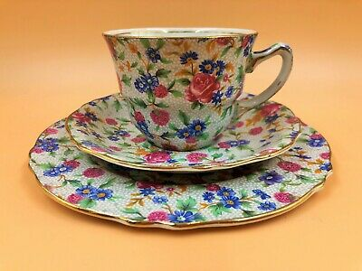 $ CDN66.50 • Buy Royal Winton Grimwades Old Cottage Chintz Tea Cup, Saucer & Side Plate Trio.