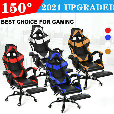 AU139.99 • Buy Gaming Chair Office Racing Style Leather Computer Desk Massage Seat Swivel Chair