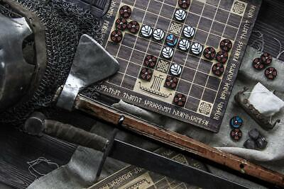 AU271.44 • Buy Hnefatafl 9x9 Historical Board Game / Tafl With Colored Lagertha Shields