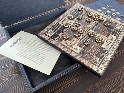 AU255.93 • Buy Hnefatafl 9x9 Historical Board Game Decorated With Ornament Inspired By Vikings
