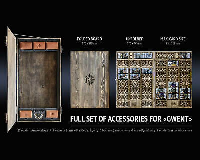 $ CDN775.32 • Buy All Accessories Gwent Set For Gwent Card Game Wooden Gift Box The Witcher