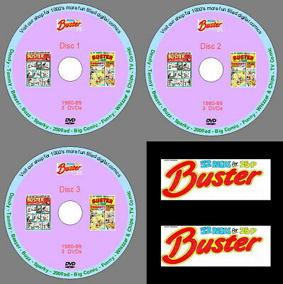 £6.99 • Buy Buster Comic 1980-89 On 3 DVDs. UK Classic Comics. Collectible. Nostalgia. Retro