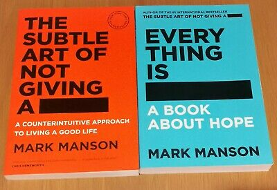 AU20 • Buy The Subtle Art Of Not Giving A F*ck And  Everything Is F*cked Mark Manson Book