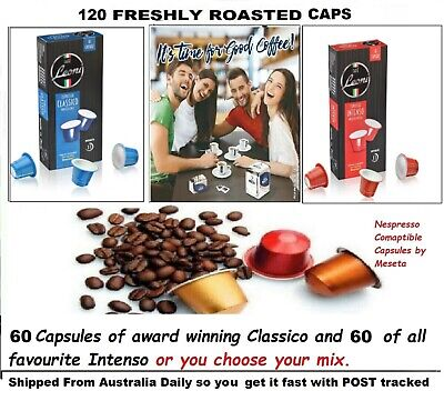 AU38.85 • Buy 120 X Nespresso Coffee Capsules Compatible Mixed Pods 2 Italy Best Roast Flavor