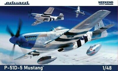 Eduard 84172 1/48 P-51D-5 Mustang Weekend With Free Cockpit Upgrade • 25£