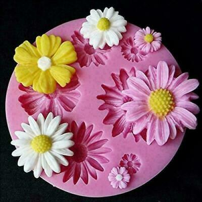 3D Daisy Flower Shape Fondant Mold Silicone Cake Chocolate Decorating DIY Mould • 1£