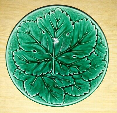 £16.99 • Buy Antique Wedgwood Green Majolica Molded Cabbage Leaf Bowl Dish IA64 16cm