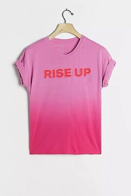 $ CDN56.70 • Buy NWT Anthropologie Rise Up Ombre Graphic Tee Size Large