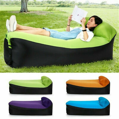 £13.99 • Buy Lazy Outdoor Inflatable Sofa Sleeping Bag Air Bed Lounger Chair Mattress Camping