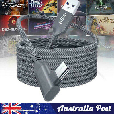 AU13.89 • Buy 5M Charger Cable For Oculus Quest 2 Link Headset USB 3.0 Type C Data Line