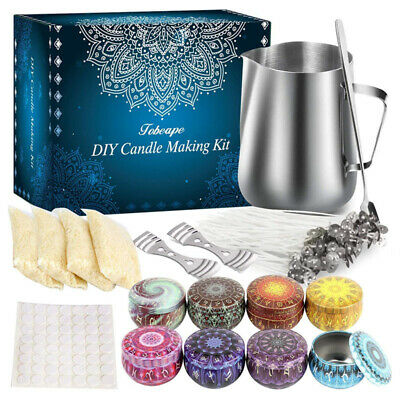 £20.99 • Buy Complete Candle & Melt Making Kit DIY Starter Dyes Wicks Soy Wax Candle Pitcher