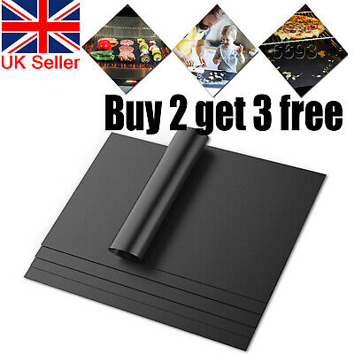 £2.99 • Buy BBQ Grill Mesh Non-Stick Mat Reusable Sheet Resistant Cooking Baking Barbecue UK