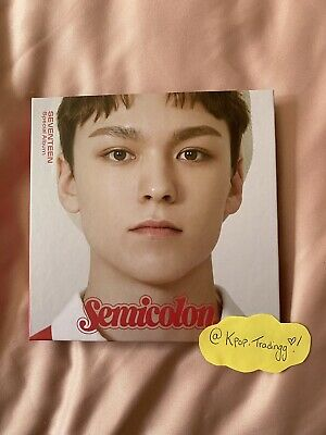 Vernon Seventeen Semicolon Album Cover + Full Size Poster And Inclusions (No PC) • 24.50£