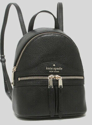 $ CDN150.37 • Buy Kate Spade Karina Mini Convertible Leather Backpack Crossbody Shoulder Bag Black