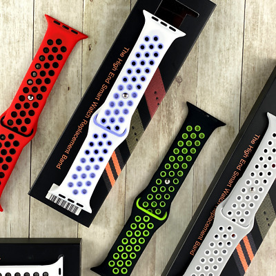 $ CDN8.45 • Buy For Apple Watch Strap Series SE 2 3 4 5 6 38/40/42/44mm Soft Silicone Band