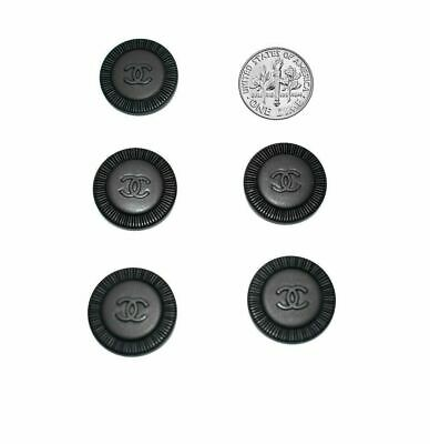 £36.35 • Buy NEW Auth CHANEL Lot Of 5 Mixed Sizes 20-18-16 Mm Black CC Logo Clothing Buttons