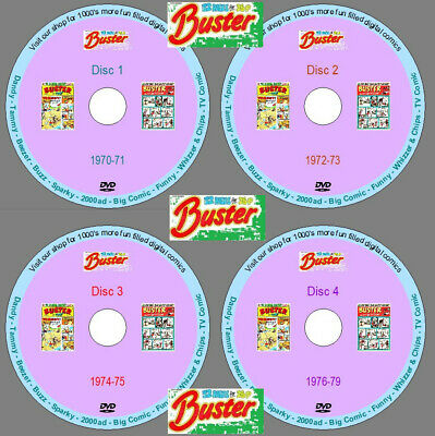 £8.99 • Buy Buster Comic 1970-79 (COMPLETE) Every Issue On 4 DVDs. UK Classic Comics.