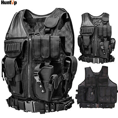 $35.71 • Buy Military Tactical Vest W/ Right Left Holster Molle Assault Combat Plate Carrier