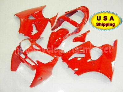 $388.98 • Buy Red ABS Plastic Injection Body Kit Fairing Fit For Kawasaki NINJA ZX 6R 2000-02