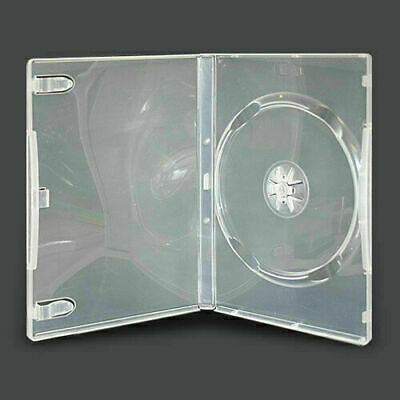 AU35.80 • Buy (50pcs) X PREMIUM Single Clear 14mm Thick CD / DVD Cases Cover Box- Hold 1 Disc