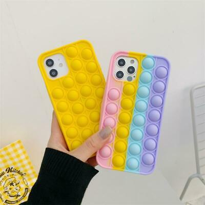 AU11.49 • Buy Pop It Push Bubble For IPhone 11 12 Pro Max Shockproof Soft Silicone Case Cover