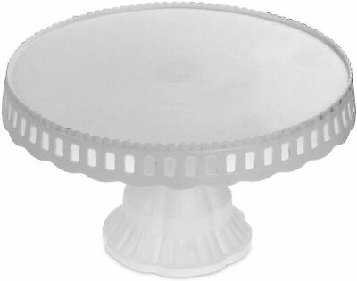 White Plastic Traditional Desserts Cake Stand Plate Display • 8.49£